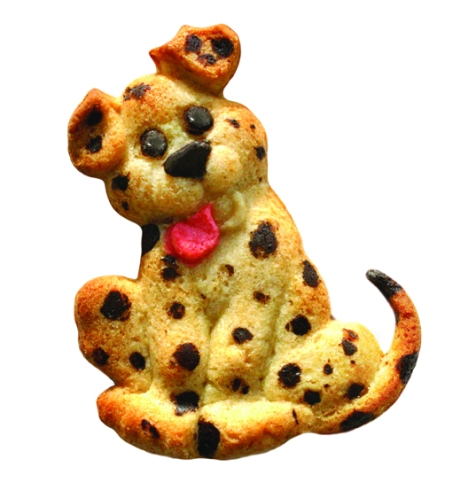 Dalmatian Puppy Cookie made with ZANDA PANDA's Puppy Mold!