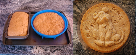 Puppy Bread Before & After. Made with ZANDA PANDA's Puppy Mold