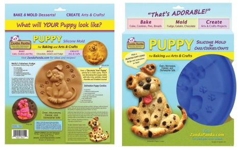 Packaging for ZANDA PANDA's Puppy Mold