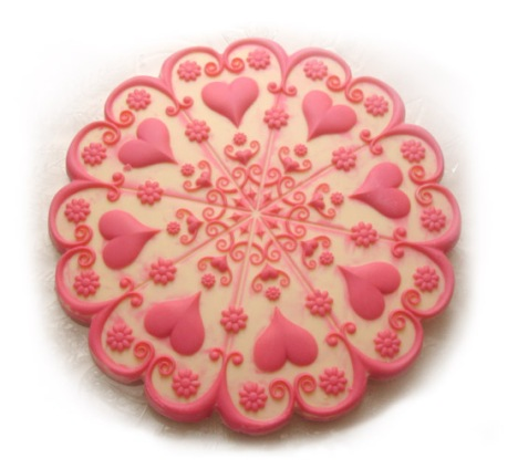 Valentine Cake Topper from ZANDA PANDA's Kaleidoscope Heart Mold